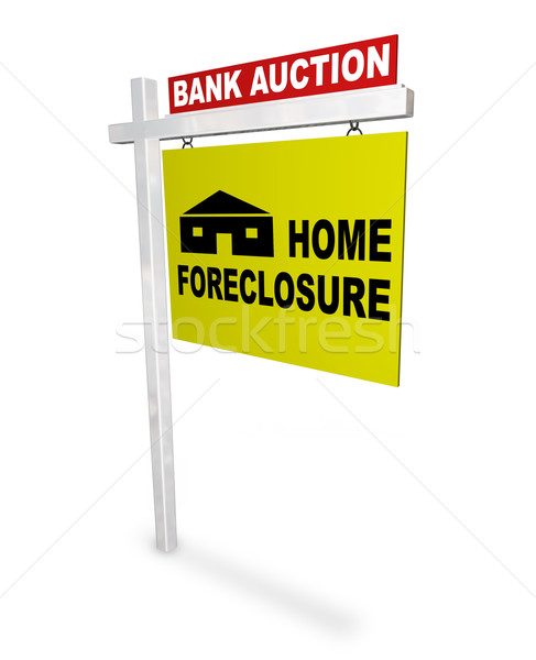 Home Foreclosure Sign Stock photo © iqoncept
