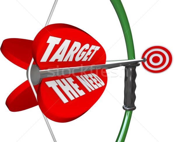 Target behoefte boeg pijl klanten Stockfoto © iqoncept