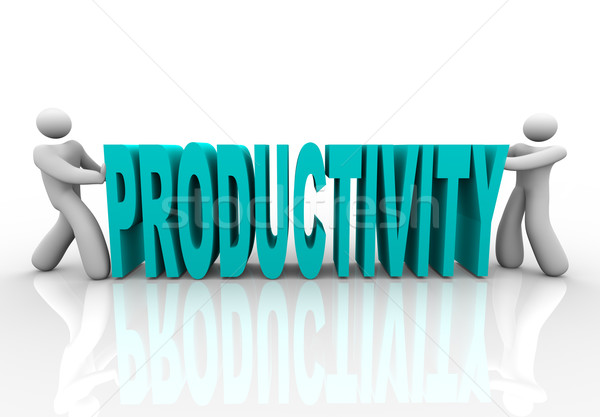 Productivity - People Push Word Together Stock photo © iqoncept