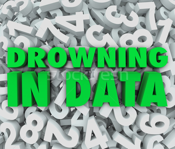 Drowning in Data Too Much Overwhelming Information  Stock photo © iqoncept