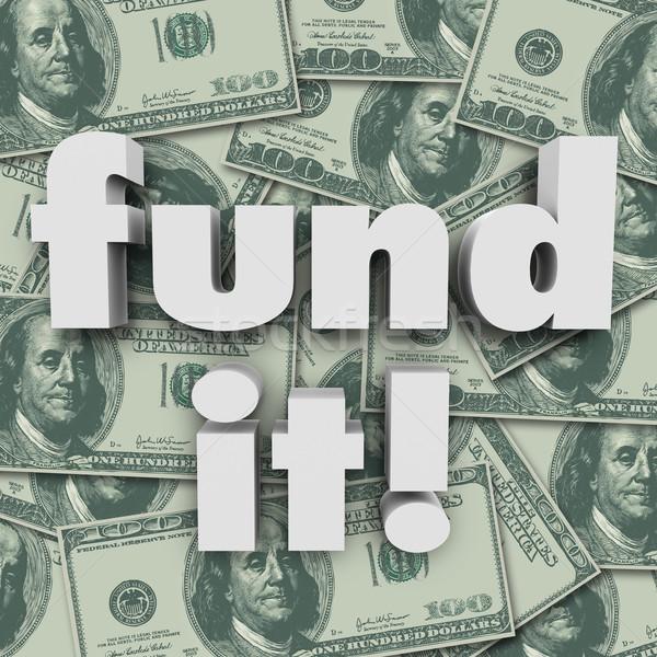 Geld financiering startup woorden honderd Stockfoto © iqoncept