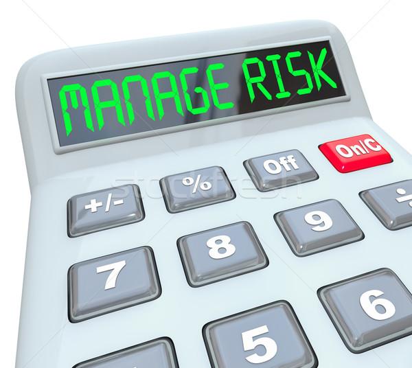 Kockázat számológép pénzügyi betartás pénz könyvvizsgálat Stock fotó © iqoncept