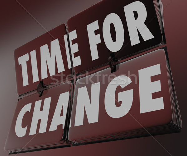 Time for Change Retro Clock Flipping Tiles Innovate Adapt  Stock photo © iqoncept