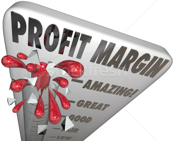 Stock photo: Profit Margin Thermometer Measuring Income Money Earning Growth