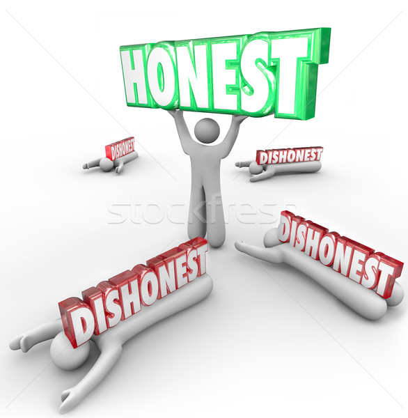 Honest Person Wins Vs Dishonest Competitors Strong Reputation Si Stock photo © iqoncept