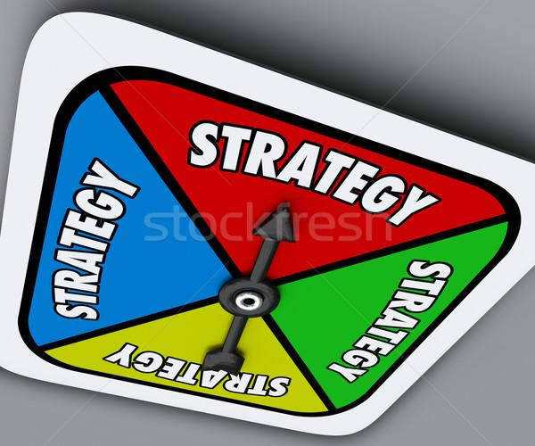 Stratégia szó társasjáték fordul győzelem verseny Stock fotó © iqoncept