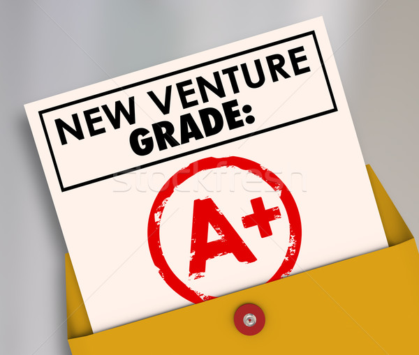 New Venture Grade Report Card A Plus Great Grade Score Stock photo © iqoncept