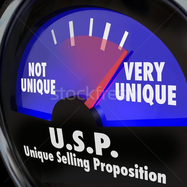 USP Unique Selling Proposition Gauge Level Different Special Qua Stock photo © iqoncept