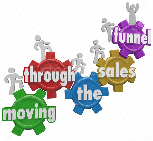 Moving Through Sales Funnel Customers Buying Your Products Stock photo © iqoncept
