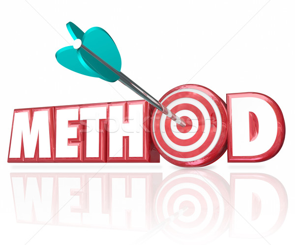 Method 3d Word Arrow in Target Bulls-Eye Stock photo © iqoncept