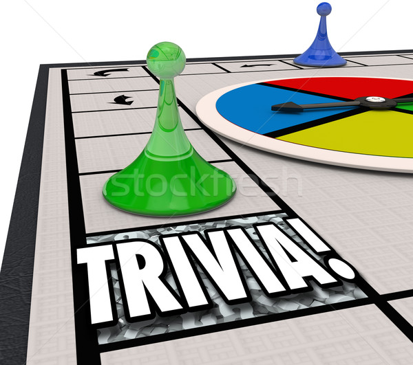 Trivia Board Game Fun Knowledge Challenge Playing Quiz Test Stock photo © iqoncept