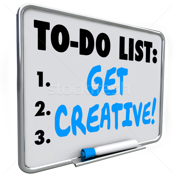 To Do List Get Creative Imagination Original Inventive Ideas Stock photo © iqoncept