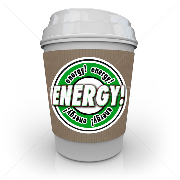 Energy Drink Coffee Caffeine Cup Beverage Power Strength Stock photo © iqoncept
