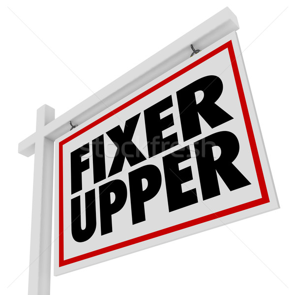 Fixer Upper Real Estate Sign Restoration Renovation House Home D Stock photo © iqoncept