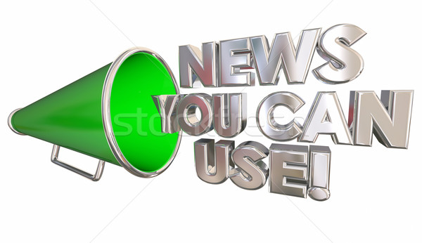 News You Can Use Bullhorn Megaphone 3d Illustration Stock photo © iqoncept