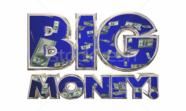 Big Money Earn Income Revenue Jackpot Words 3d Illustration Stock photo © iqoncept