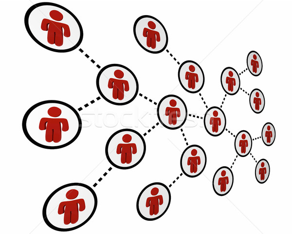 People Connected Social Network Friends Linked 3d Illustration Stock photo © iqoncept