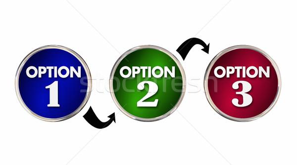 Opciones uno dos tres elección mejor Foto stock © iqoncept