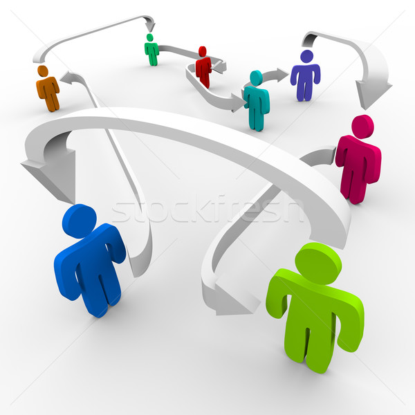 Stock photo: Connected People in Network
