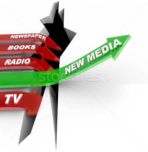 New Media vs. Old Media - Technologies Beat Older Formats Stock photo © iqoncept