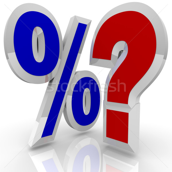 Percentage Sign and Quesiton Mark - Searching for Best Rate Stock photo © iqoncept