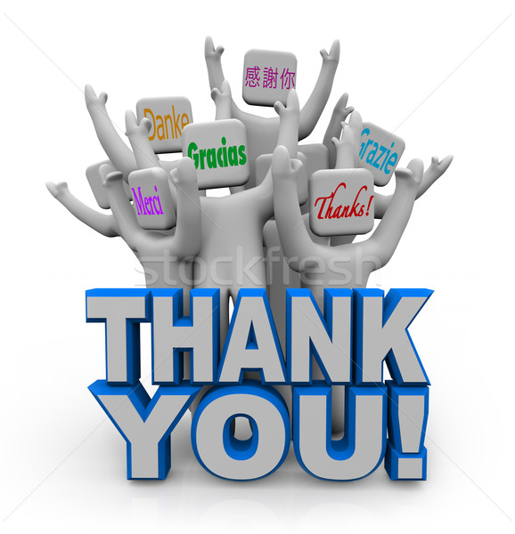 Thank You in Different International Languages Stock photo © iqoncept