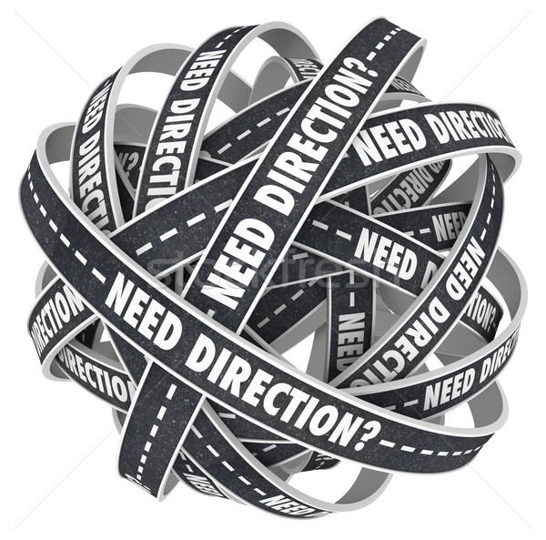 Need Direction Ball of Tangled Roads Uncertainty Stock photo © iqoncept
