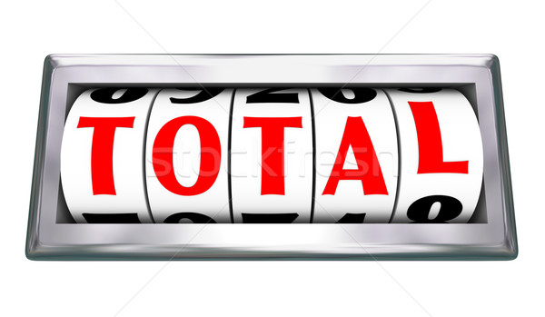 Total Word Odometer Tracking Wheels Slots Totaling Number Stock photo © iqoncept