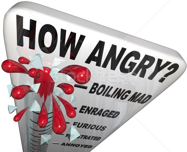 How Angry Thermometer Measure Anger Level Man Frustrated Stock photo © iqoncept