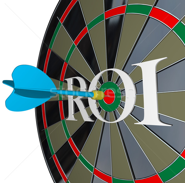 ROI Return on Investment Dartboard Targeting Wealth Stock photo © iqoncept