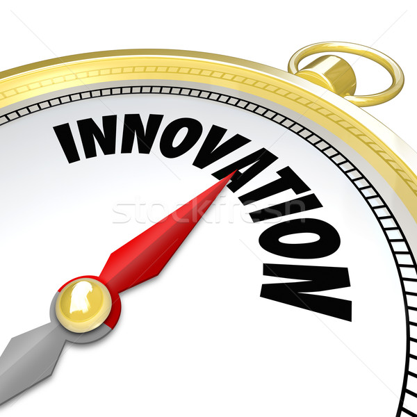 Innovation Gold Compass Points to New Change Stock photo © iqoncept