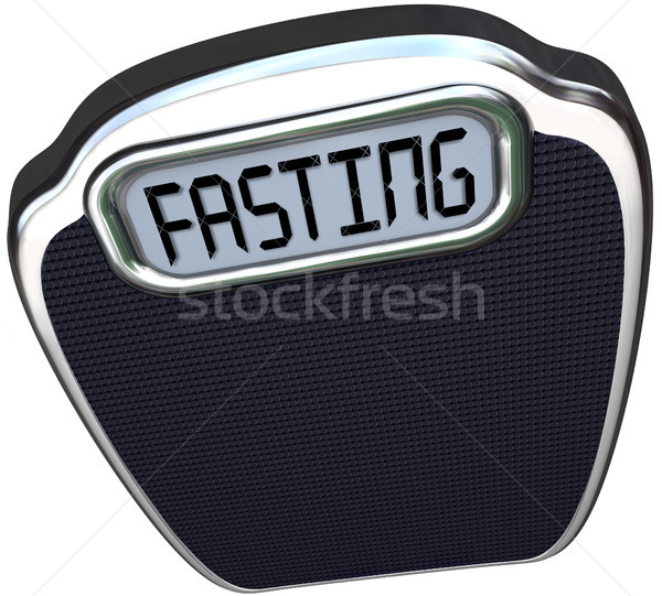 Fasting Word 5-2 Diet Fad Scale Overweight Stock photo © iqoncept