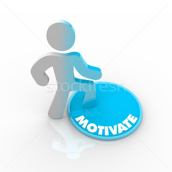Photo stock: Personne · motiver · bouton · couleur · santé · succès