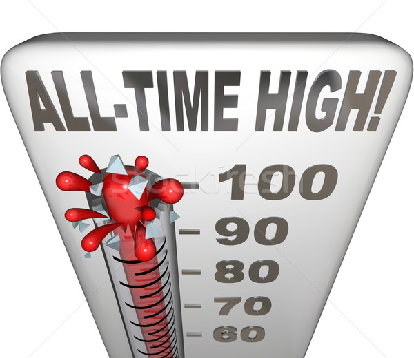 All-Time High Record Breaker Thermometer Hot Heat Score Stock photo © iqoncept