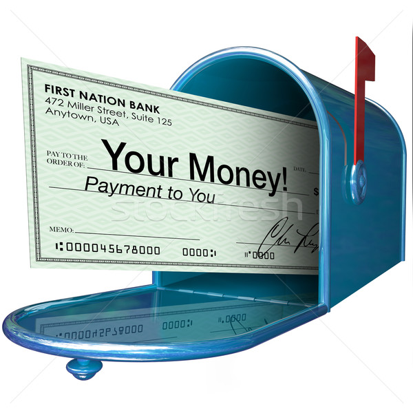 Your Money Check Payment in Mailbox Stock photo © iqoncept
