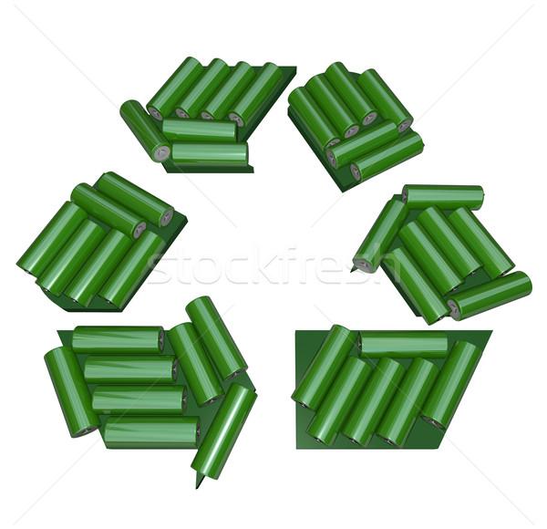 Recyklingu symbol zielone działalności ziemi Zdjęcia stock © iqoncept