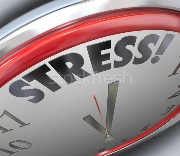 Stress clock tempo scadenza conto alla rovescia allarme Foto d'archivio © iqoncept