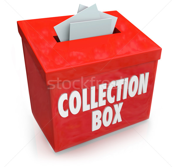 Collection Box Fund Raising Drive Donation Support Money Help Stock photo © iqoncept