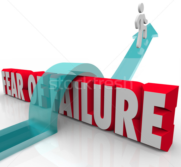 Fear of Failure Overcome Challenge Anxiety Uncertainty Over 3d W Stock photo © iqoncept