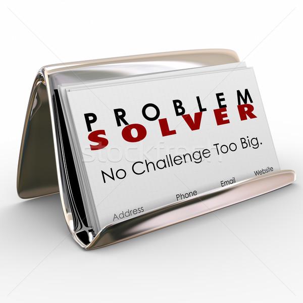 Problem Solver Business Card Holder Consultant Job Career Stock photo © iqoncept