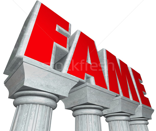 Fame Marble Columns Popularity Famous Celebrity Stock photo © iqoncept