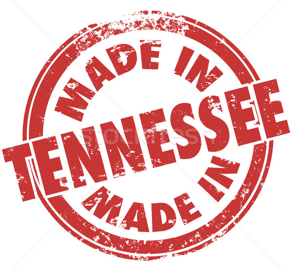 Made in Tennessee TN Words Red Round Stamp State Pride Stock photo © iqoncept