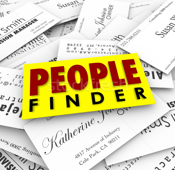 People Finder Business Cards Employment Recuiter Hiring Job Stock photo © iqoncept