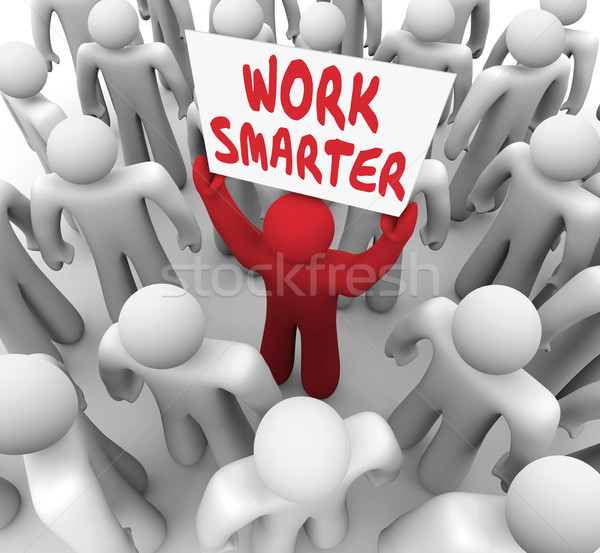 Work Smarter Words Sign Better Productivity Efficiency Stock photo © iqoncept