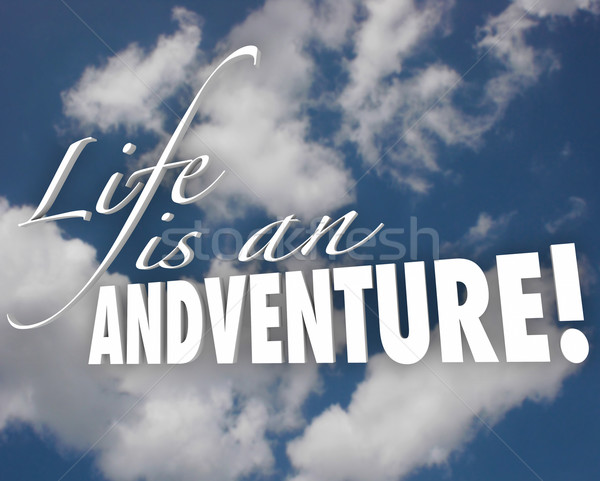 Life is an Adventure 3d Words Clouds Inspiration Motivation Stock photo © iqoncept