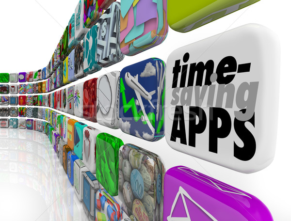 Time Saving Apps Productivity Tools Efficiency Applications Soft Stock photo © iqoncept