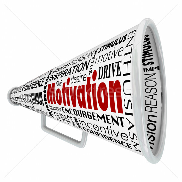 Motivation Megaphone Bullhorn Inspiration Communication Leader S Stock photo © iqoncept