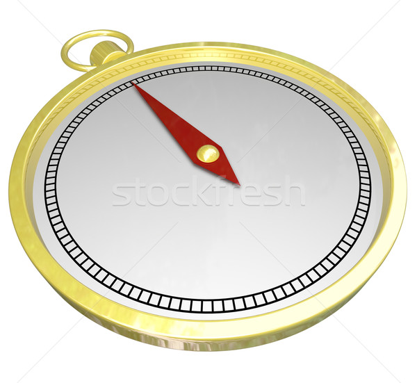 Gold Compass Direction Help Navigation Guidance Blank Copy Space Stock photo © iqoncept