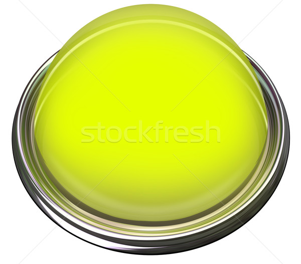 Yellow Round Button Light Catch Attention Advertise Message Aler Stock photo © iqoncept