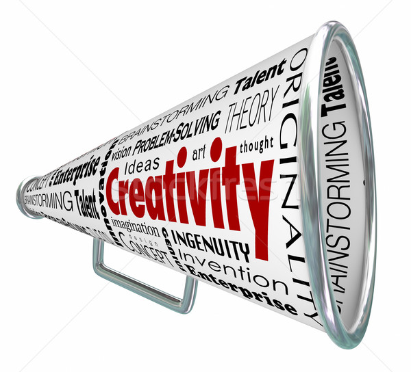 Creativity Bullhorn Megaphone Inventive Imaginative Innovative Stock photo © iqoncept